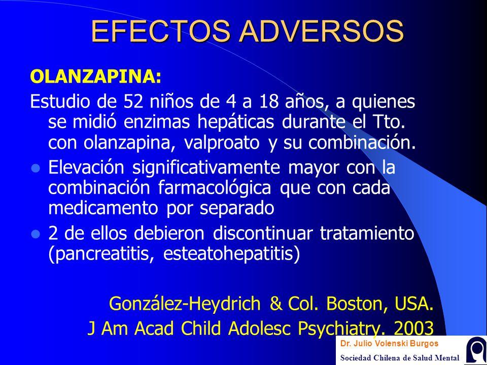 EFECTOS ADVERSOS OLANZAPINA: