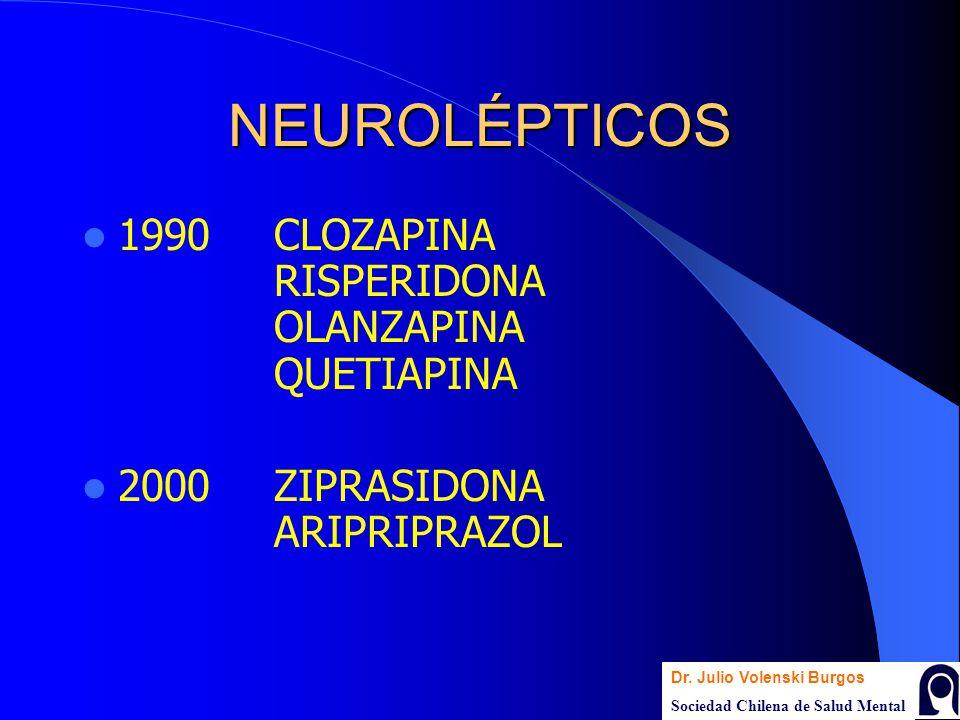 NEUROLÉPTICOS 1990 CLOZAPINA RISPERIDONA OLANZAPINA QUETIAPINA