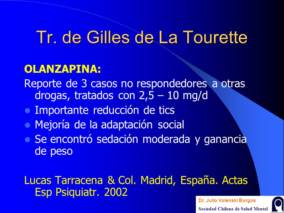 Tr. de Gilles de La Tourette