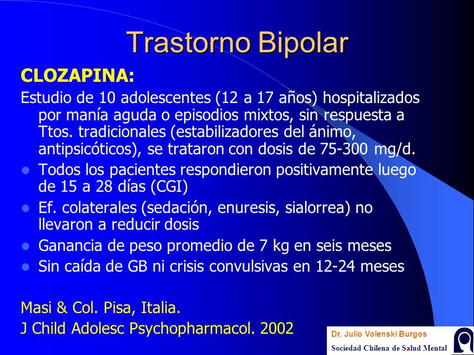 Trastorno Bipolar CLOZAPINA: