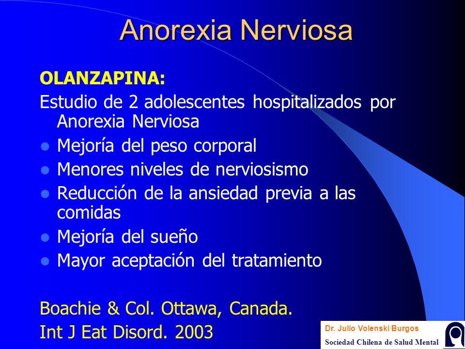 Anorexia Nerviosa OLANZAPINA: