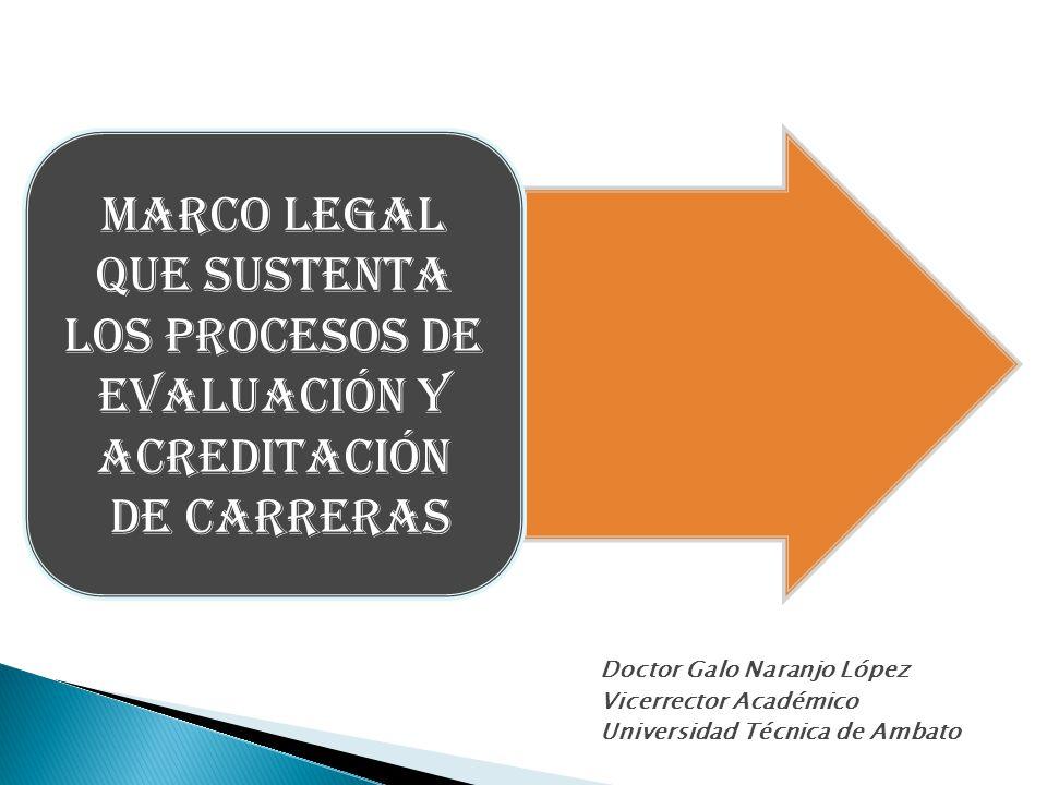 Doctor Galo Naranjo López Vicerrector Académico