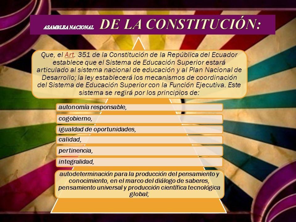 ASAMBLEA NACIONAL DE LA CONSTITUCIÓN: