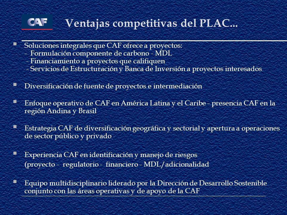 Ventajas competitivas del PLAC...