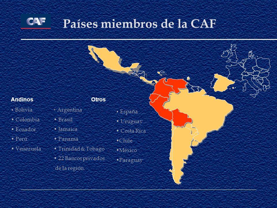 Países miembros de la CAF