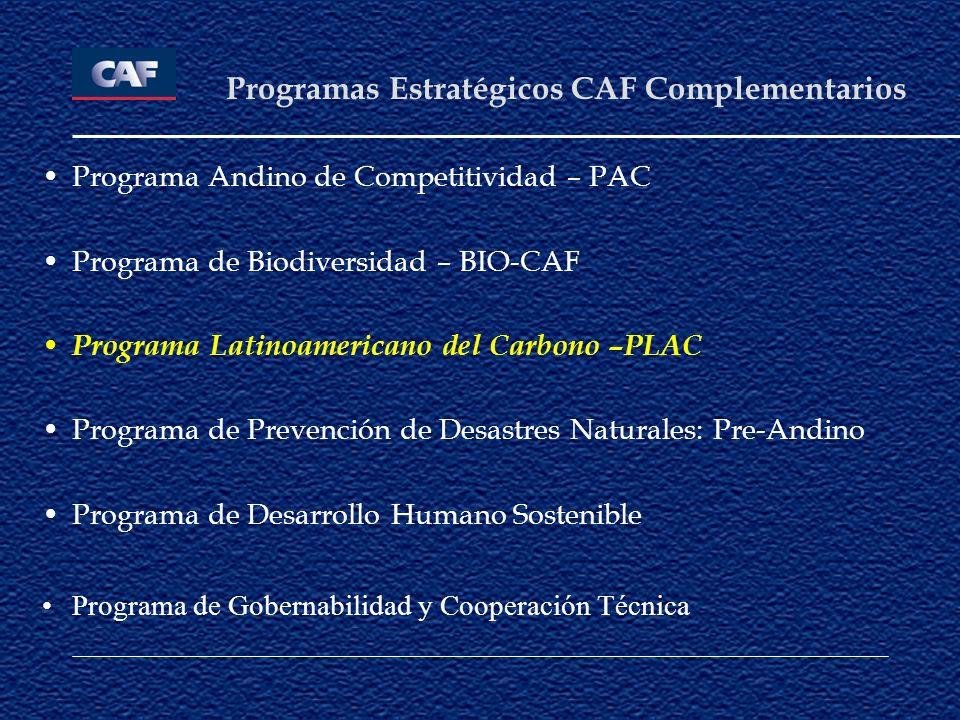 Programas Estratégicos CAF Complementarios
