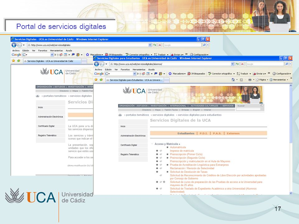 Portal de servicios digitales