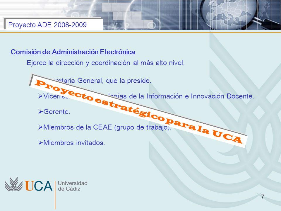 Proyecto estratégico para la UCA
