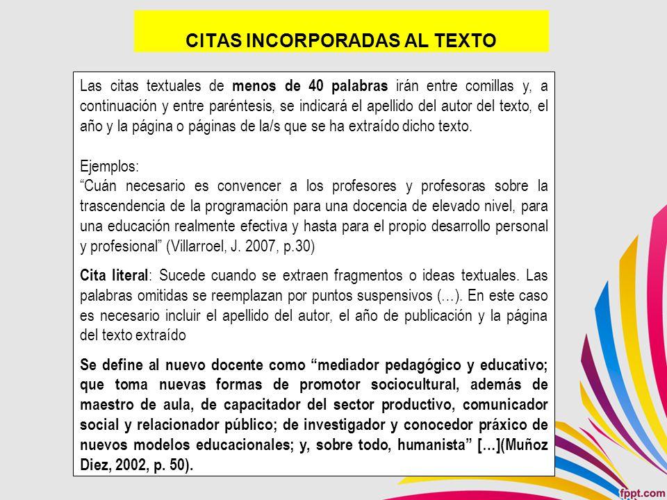 CITAS INCORPORADAS AL TEXTO
