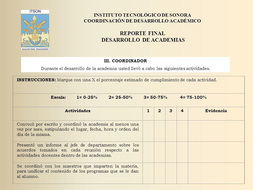 REPORTE FINAL DESARROLLO DE ACADEMIAS