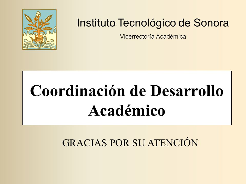 Coordinación de Desarrollo Académico