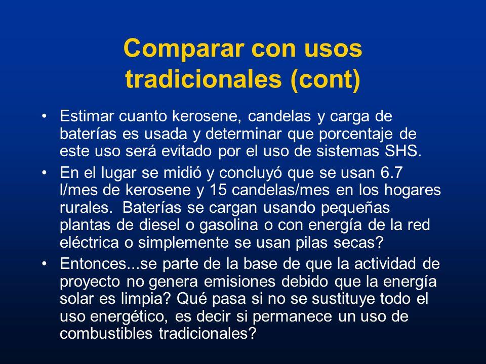 Comparar con usos tradicionales (cont)
