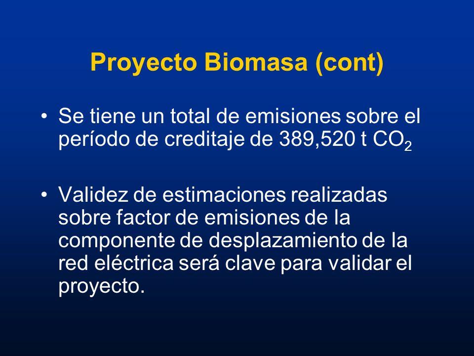 Proyecto Biomasa (cont)