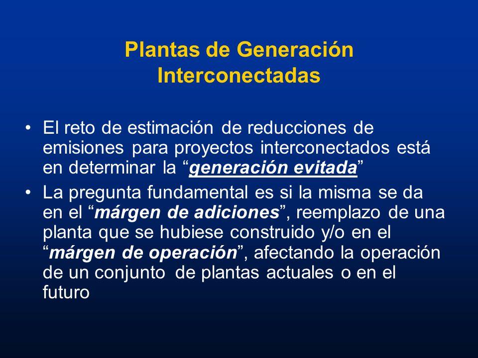 Plantas de Generación Interconectadas