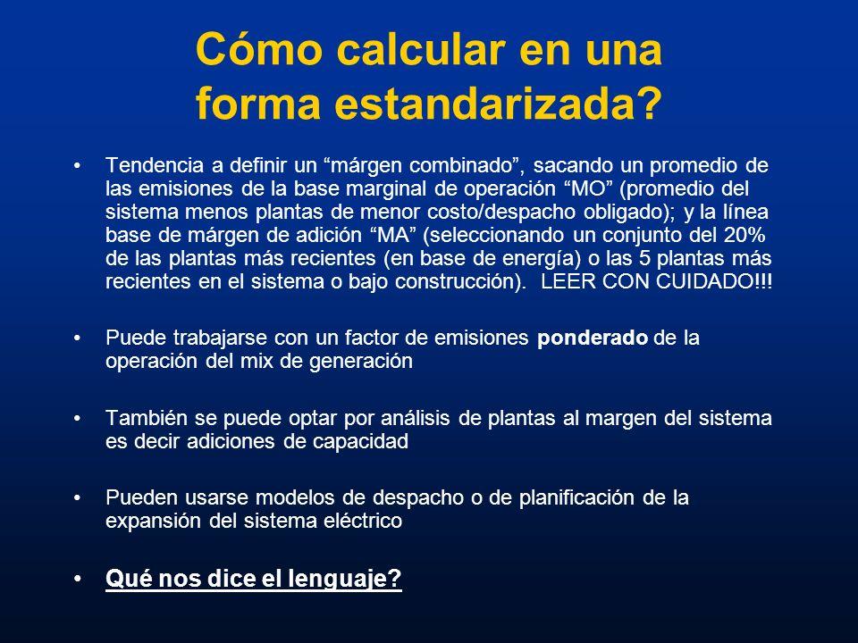 Cómo calcular en una forma estandarizada