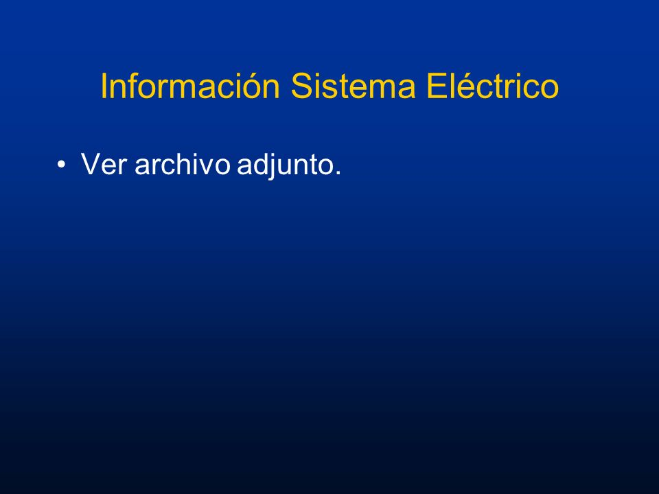 Información Sistema Eléctrico