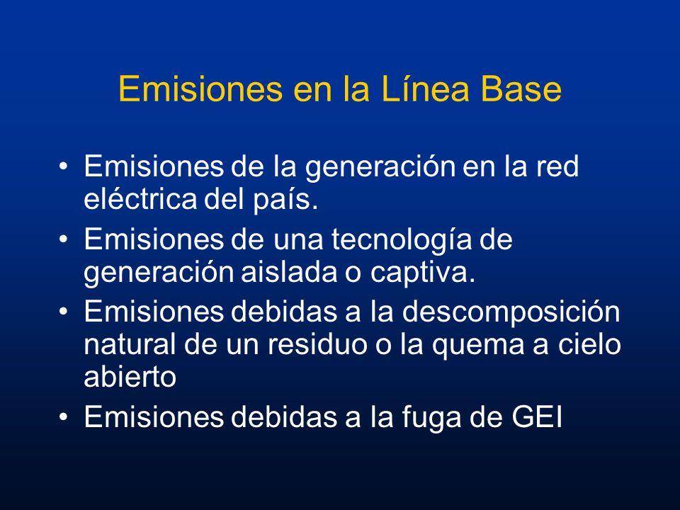 Emisiones en la Línea Base