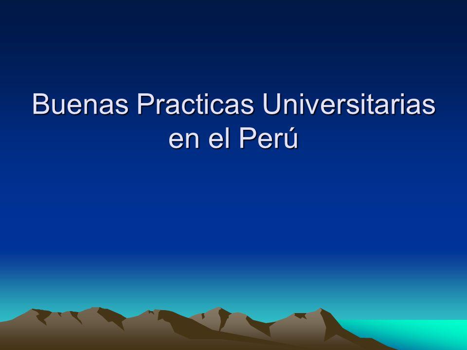 Buenas Practicas Universitarias en el Perú