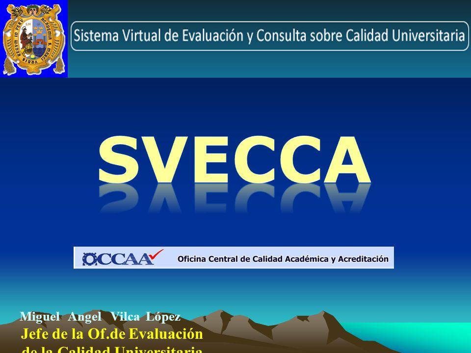 Jefe de la Of.de Evaluación de la Calidad Universitaria - OCCAA