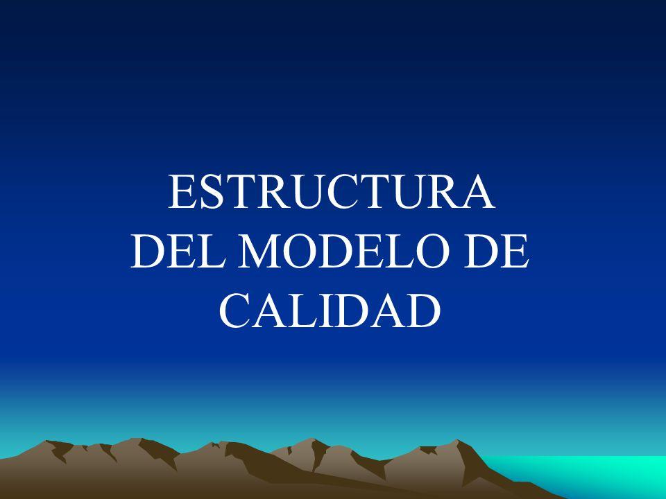 ESTRUCTURA DEL MODELO DE CALIDAD