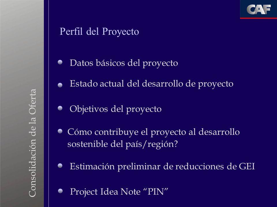 Perfil del Proyecto Datos básicos del proyecto