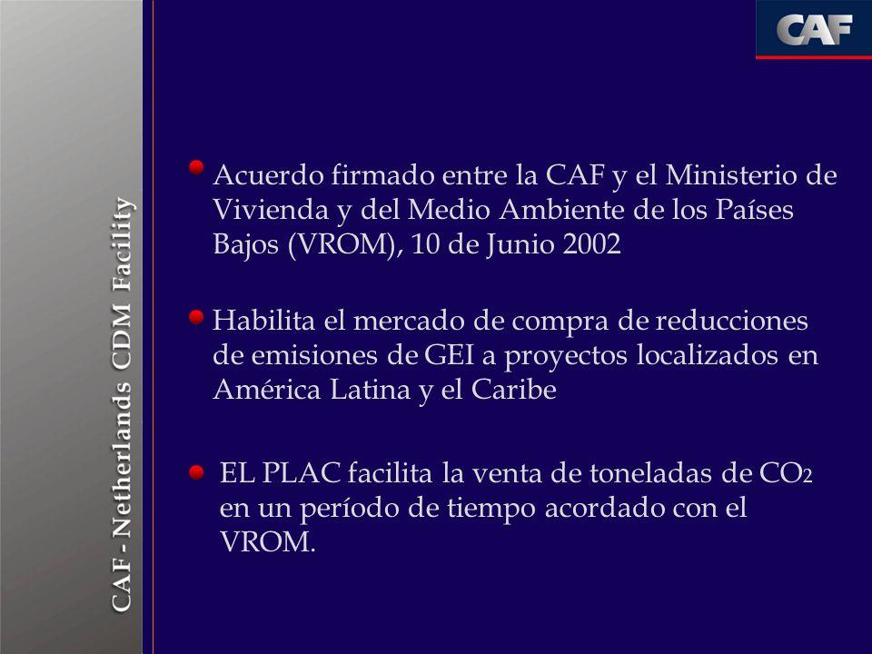 Acuerdo firmado entre la CAF y el Ministerio de Vivienda y del Medio Ambiente de los Países Bajos (VROM), 10 de Junio 2002