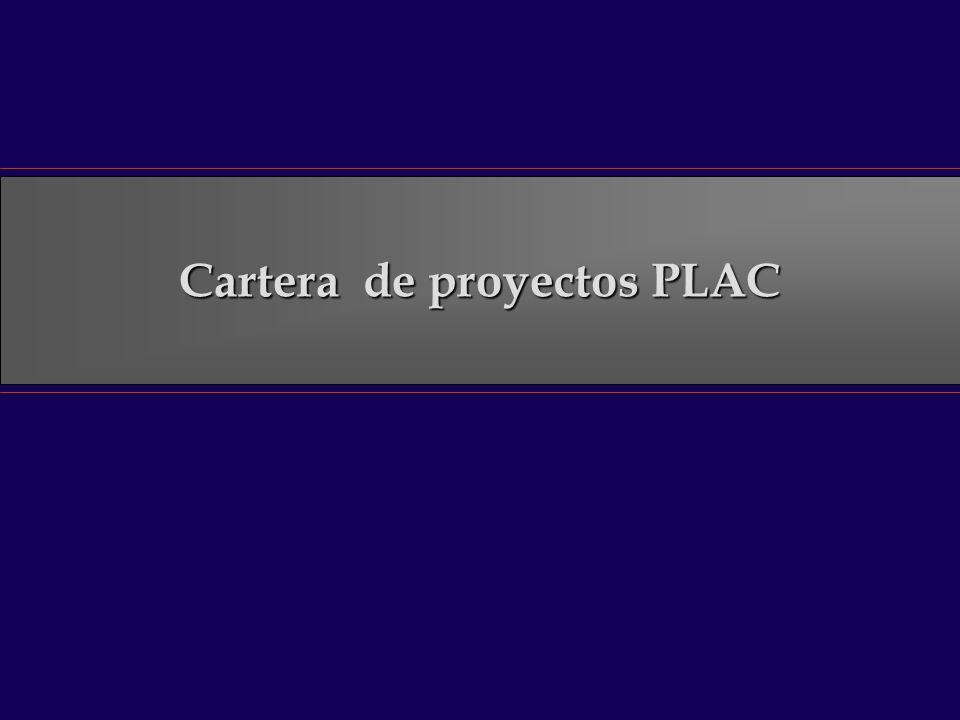 Cartera de proyectos PLAC