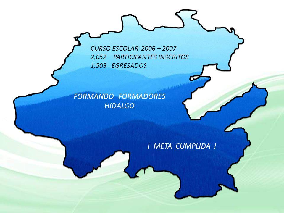 FORMANDO FORMADORES HIDALGO ¡ META CUMPLIDA !