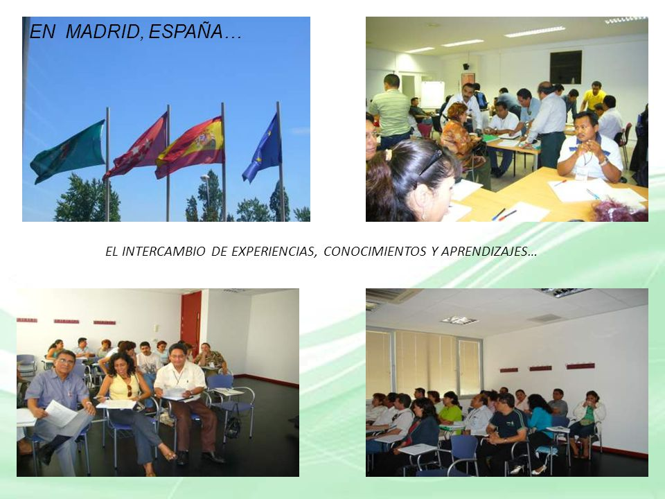 EL INTERCAMBIO DE EXPERIENCIAS, CONOCIMIENTOS Y APRENDIZAJES…