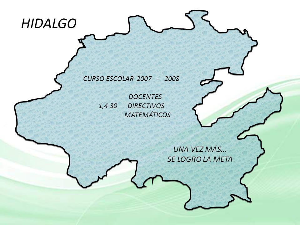 HIDALGO UNA VEZ MÁS… SE LOGRO LA META CURSO ESCOLAR 2007 - 2008