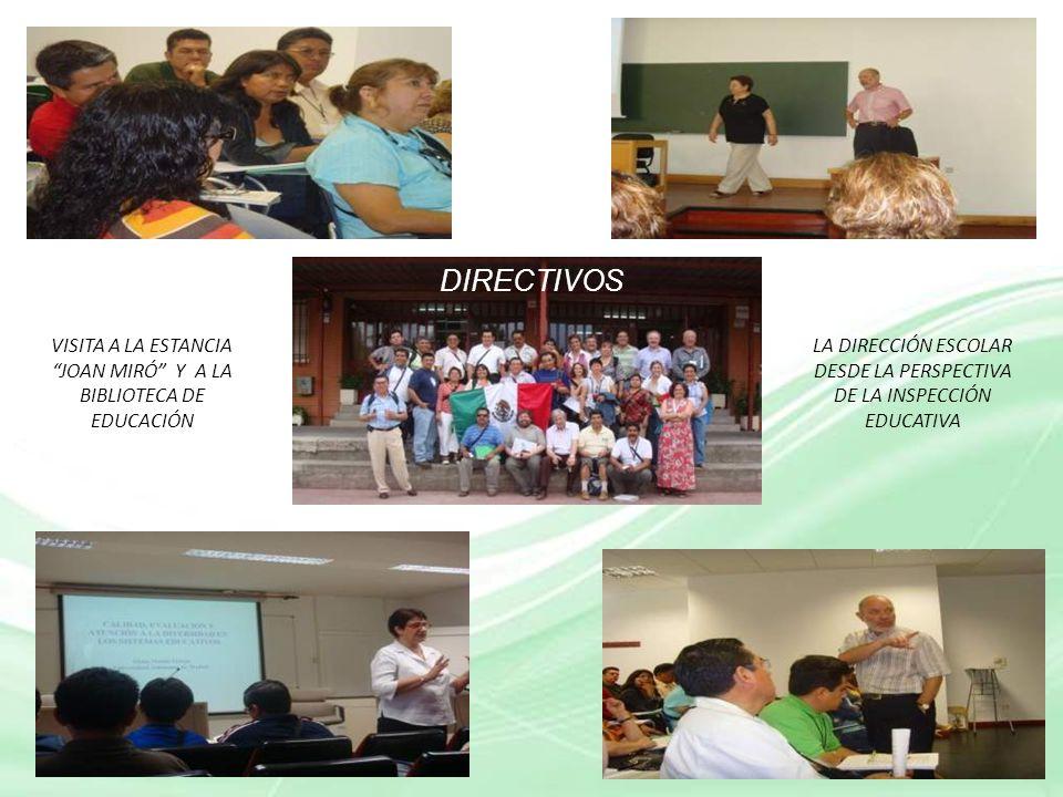 DIRECTIVOS VISITA A LA ESTANCIA JOAN MIRÓ Y A LA BIBLIOTECA DE EDUCACIÓN.