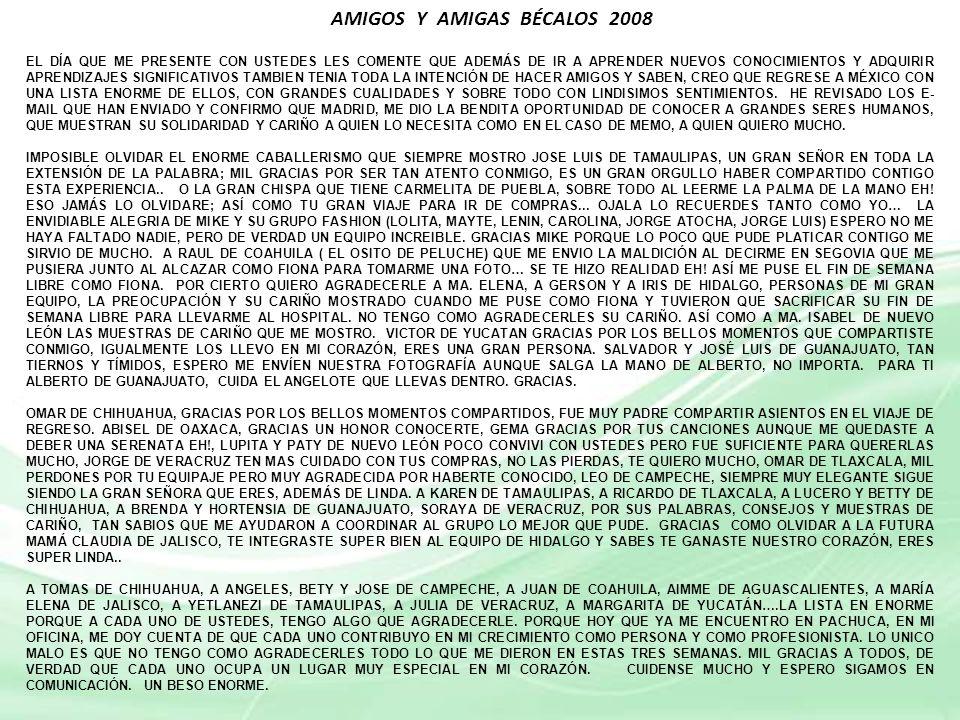 AMIGOS Y AMIGAS BÉCALOS 2008