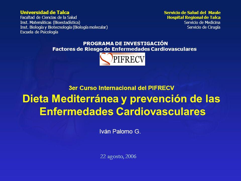 Dieta Mediterránea y prevención de las Enfermedades Cardiovasculares