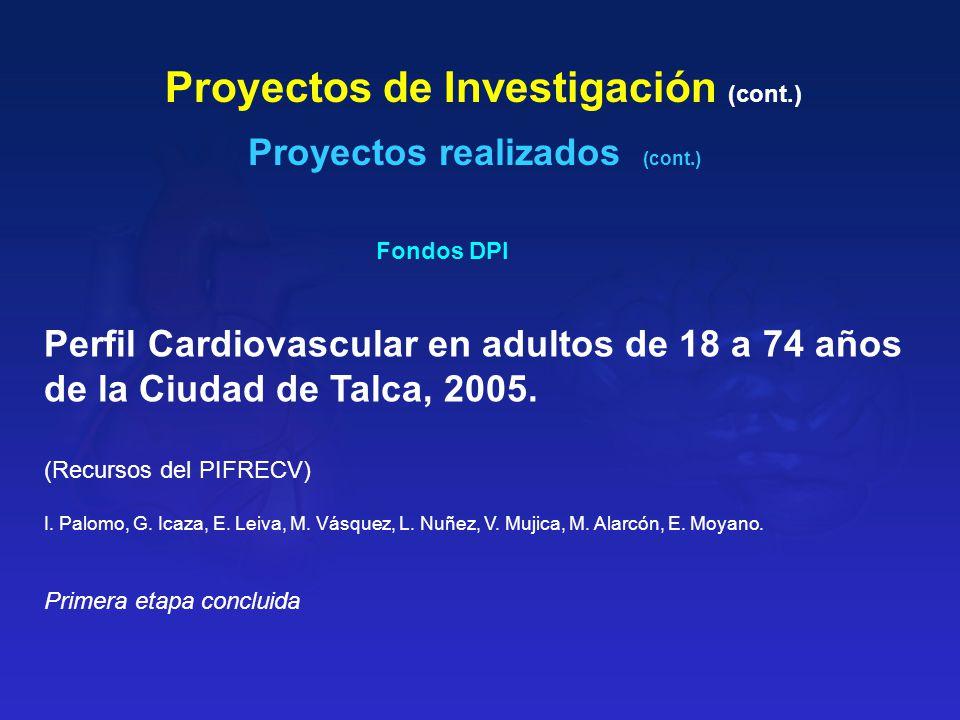 Proyectos de Investigación (cont.)