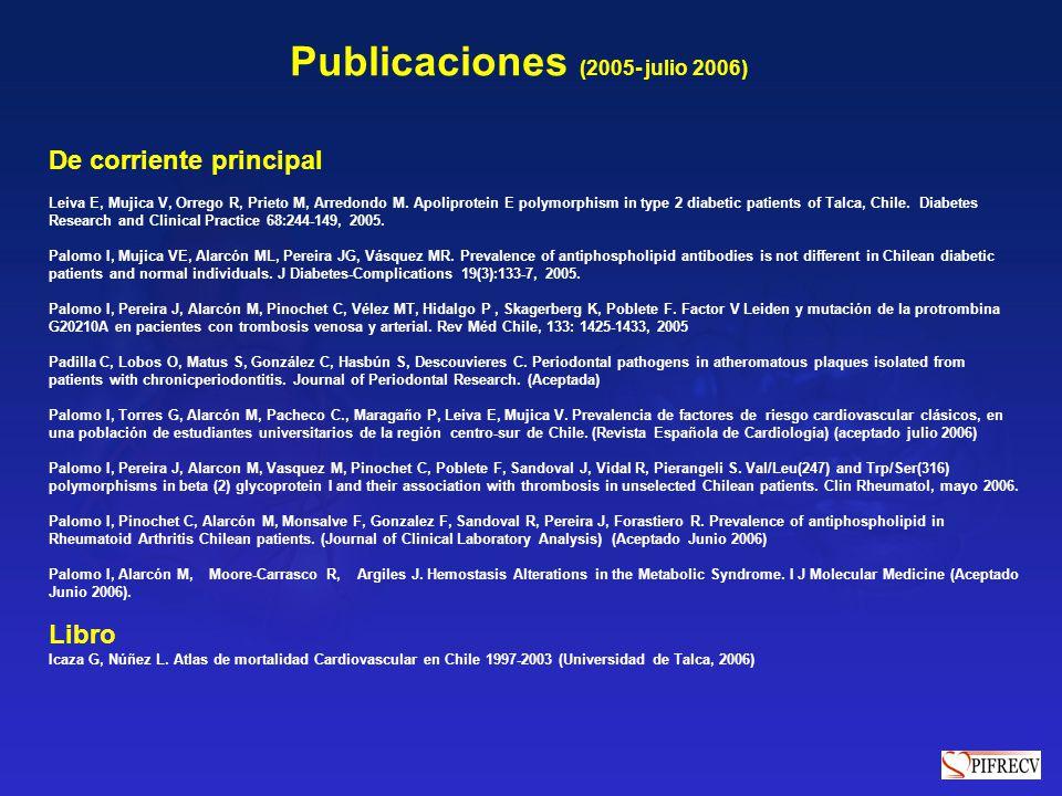 Publicaciones (2005- julio 2006)