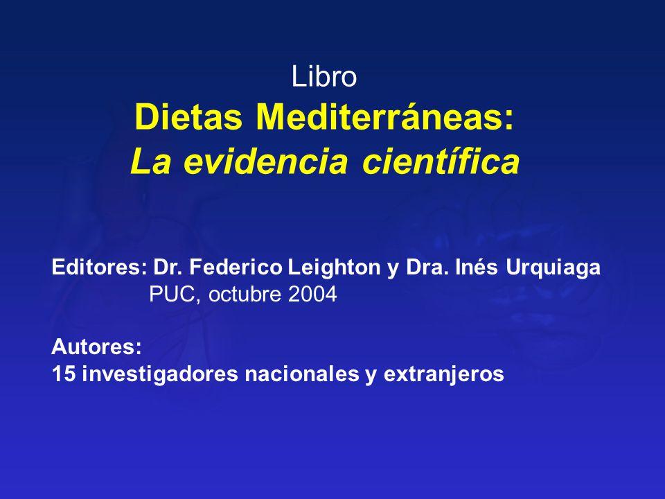 Dietas Mediterráneas: La evidencia científica