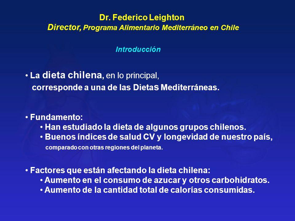 Director, Programa Alimentario Mediterráneo en Chile