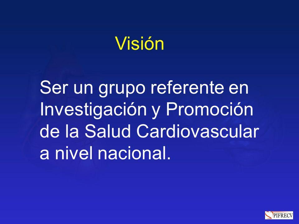Visión Ser un grupo referente en. Investigación y Promoción.