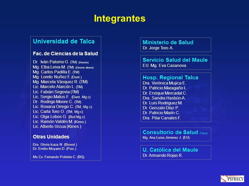 Integrantes Universidad de Talca Ministerio de Salud