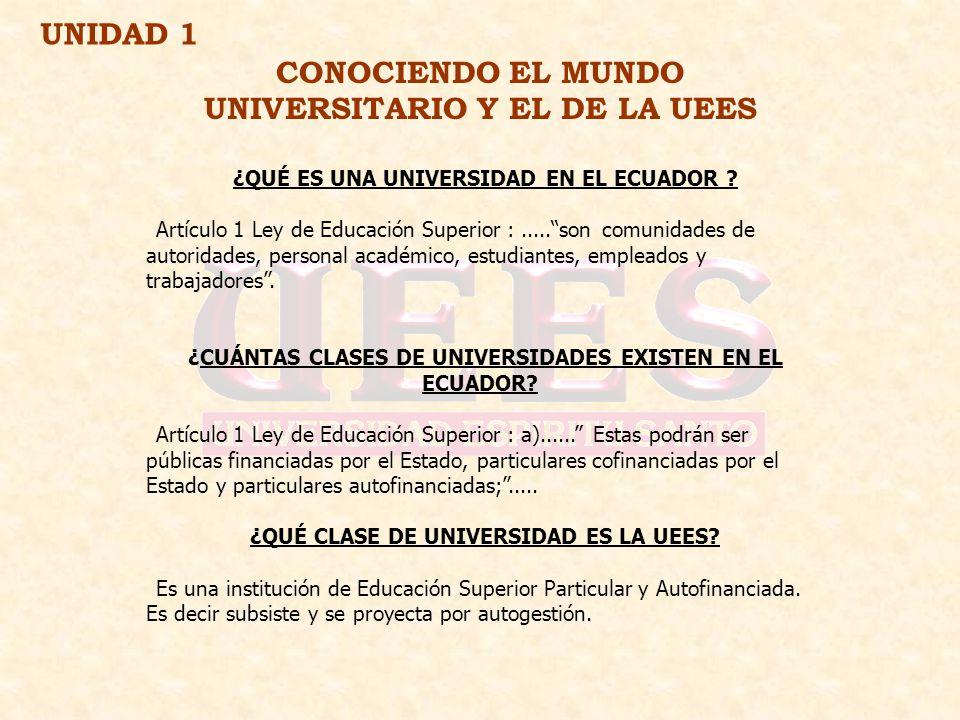CONOCIENDO EL MUNDO UNIVERSITARIO Y EL DE LA UEES