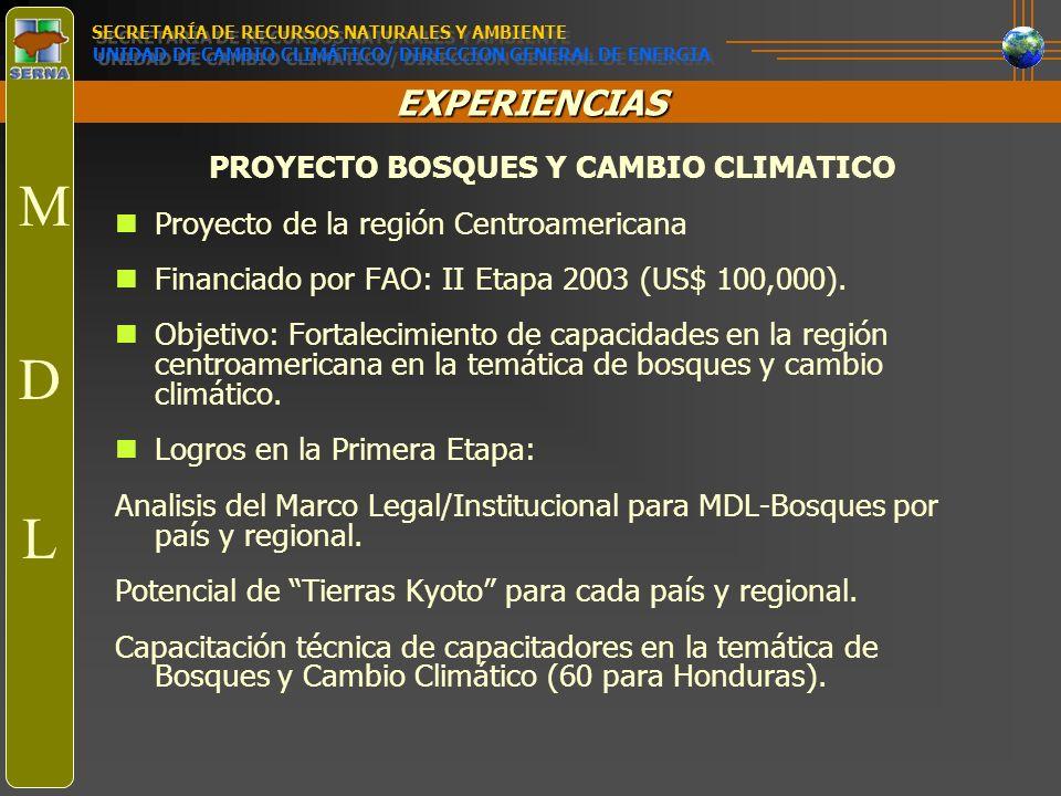 PROYECTO BOSQUES Y CAMBIO CLIMATICO