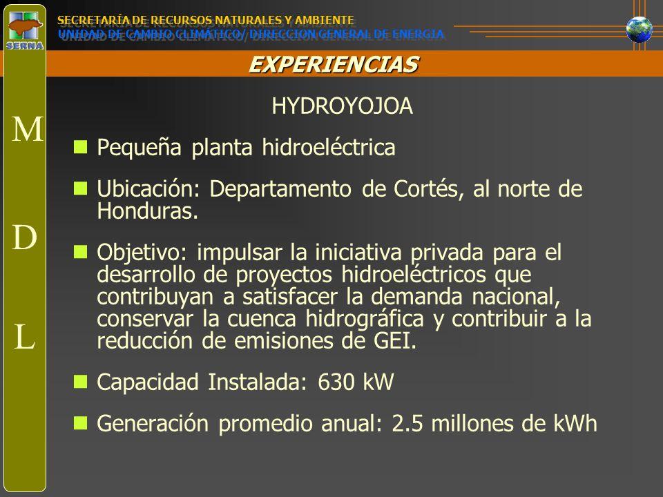 M D L HYDROYOJOA Pequeña planta hidroeléctrica