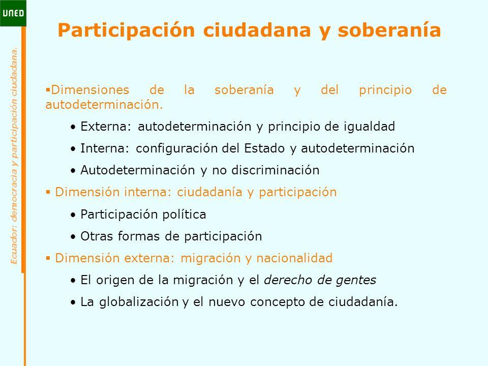Participación ciudadana y soberanía