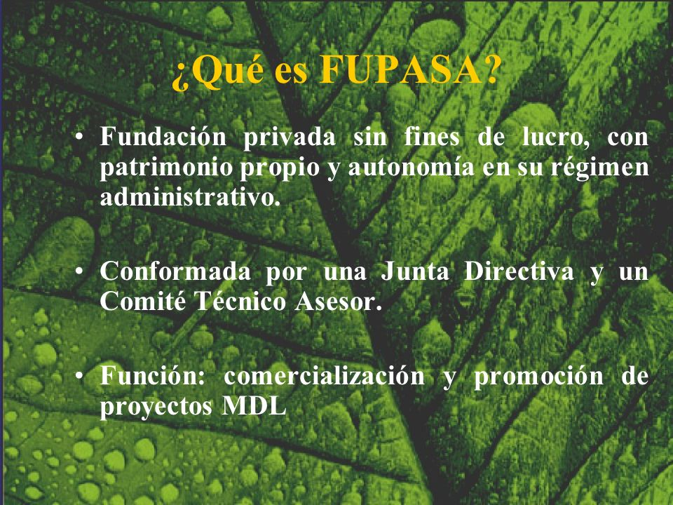 ¿Qué es FUPASA Fundación privada sin fines de lucro, con patrimonio propio y autonomía en su régimen administrativo.