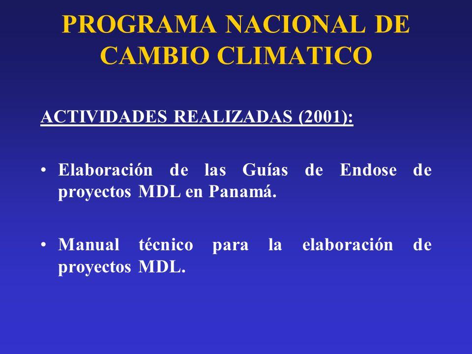 PROGRAMA NACIONAL DE CAMBIO CLIMATICO