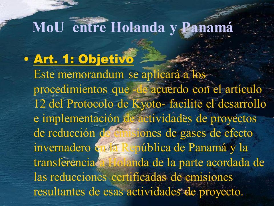 MoU entre Holanda y Panamá