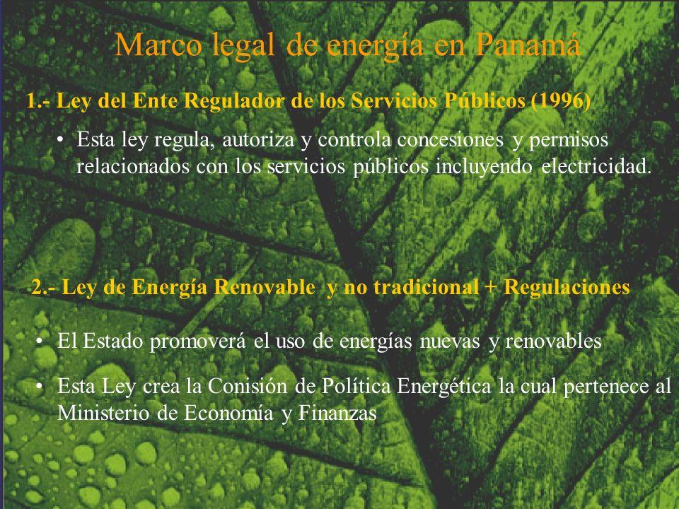 1.- Ley del Ente Regulador de los Servicios Públicos (1996)