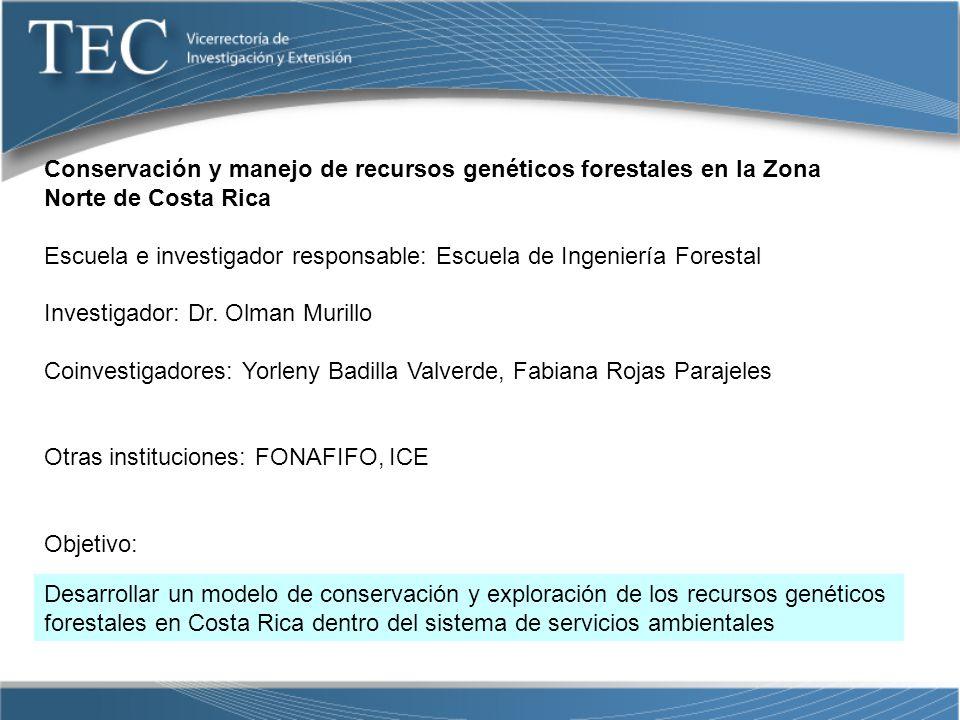 Conservación y manejo de recursos genéticos forestales en la Zona Norte de Costa Rica