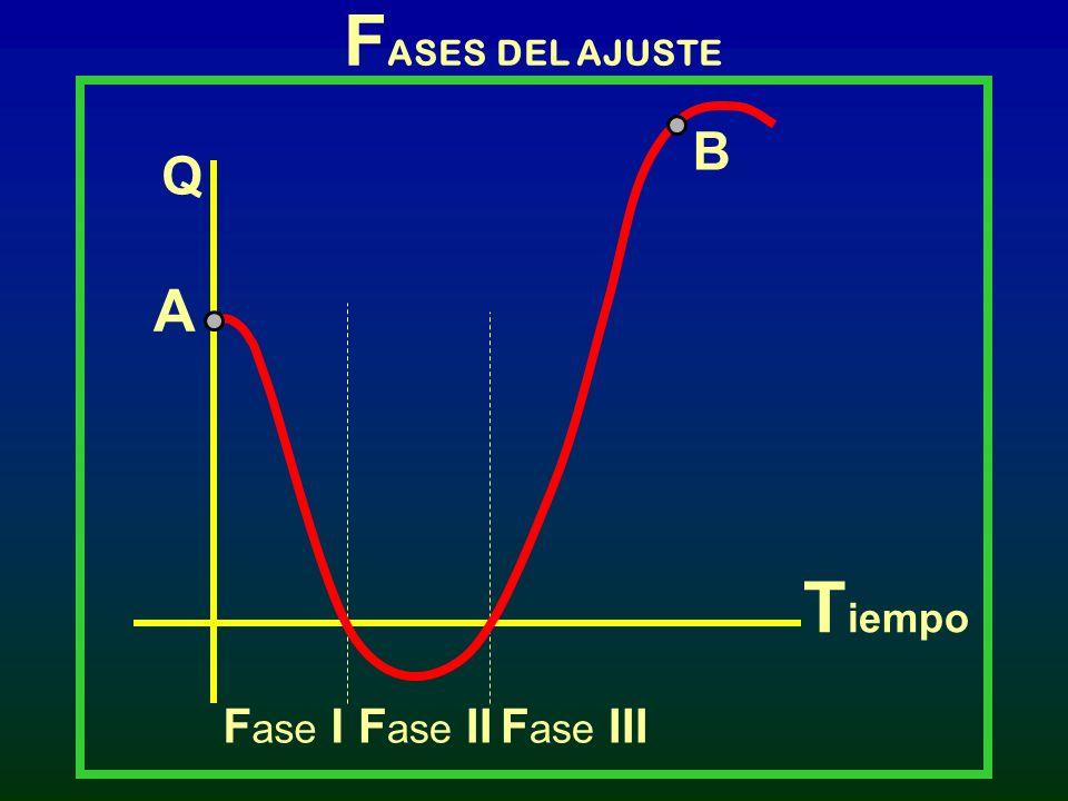FASES DEL AJUSTE B Q A Tiempo Fase I Fase II Fase III