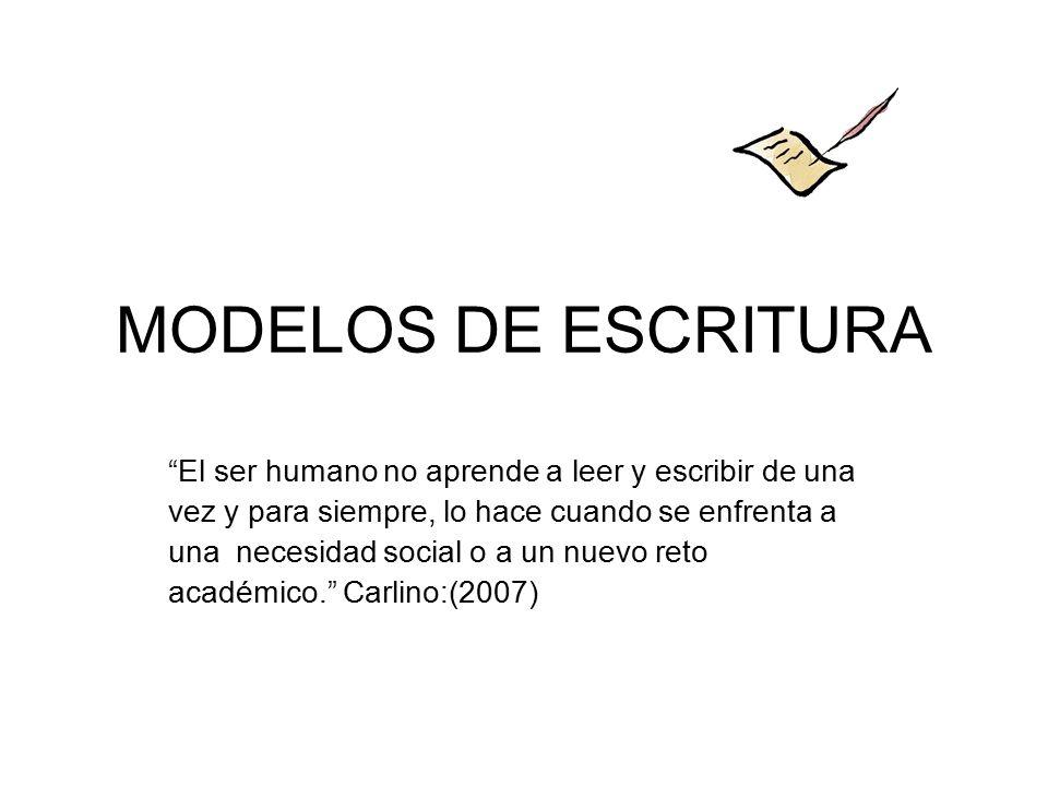 MODELOS DE ESCRITURA